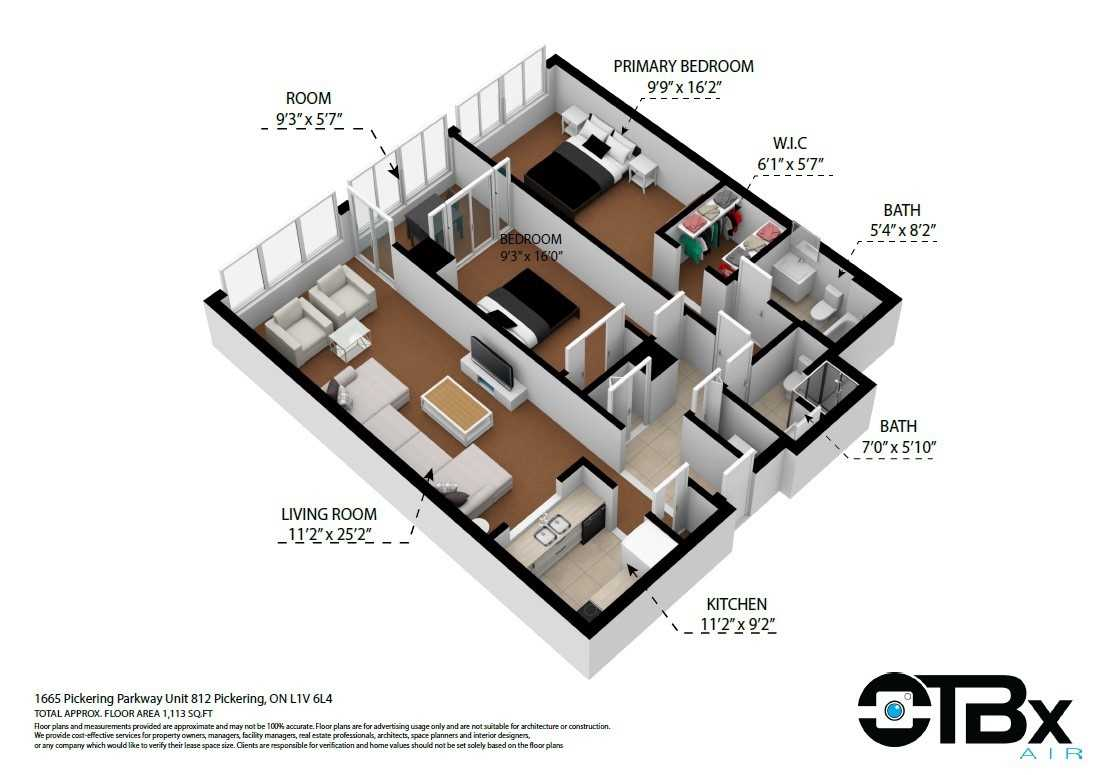 Image 37 of 40 showing inside of 2 Bedroom Condo Apt Apartment for Sale at 1665 Pickering Pkwy Unit# 812, Pickering L1V6L4