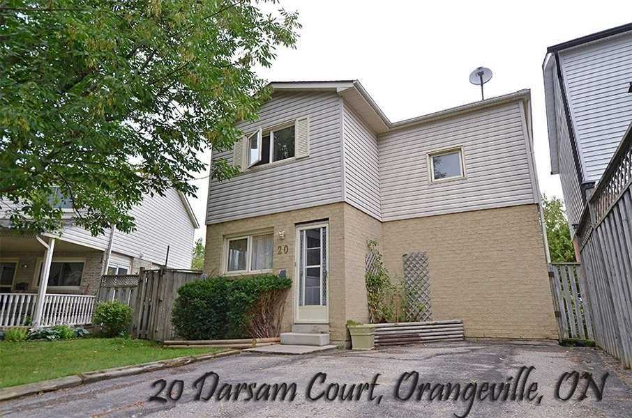 pictures of house for sale MLS: W4645478 located at 20 Darsam Crt, Orangeville L9W4B4
