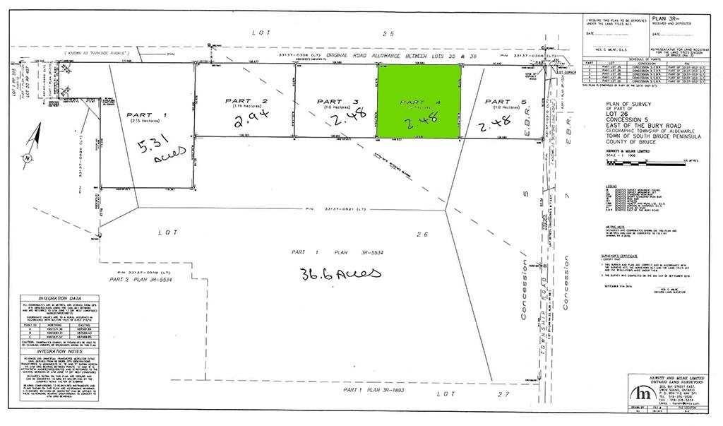 pictures of house for sale MLS: X4588878 located at Parcel4 Pt Lt 26 Concession Rd, South Bruce Peninsula N0H2T0