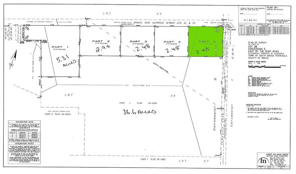 pictures of house for sale MLS: X4588885 located at Parcel5 Pt Lt 26 Concession Rd, South Bruce Peninsula N0H2T0