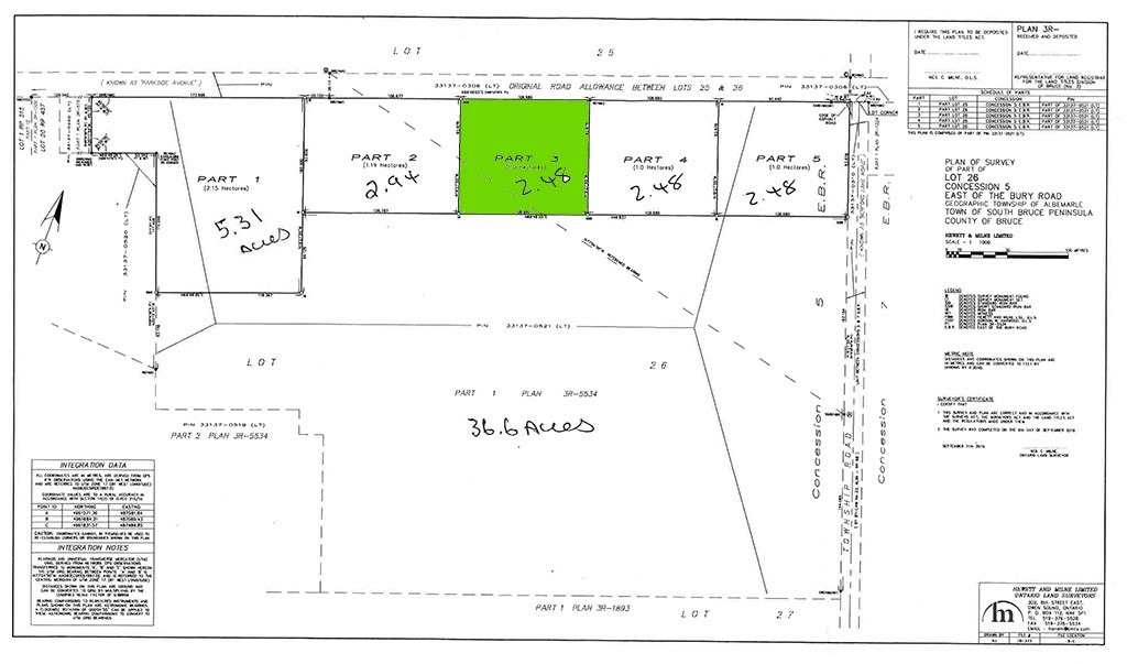pictures of house for sale MLS: X4588975 located at Parcel3 Pt Lt 26 Concession Rd, South Bruce Peninsula N0H2T0